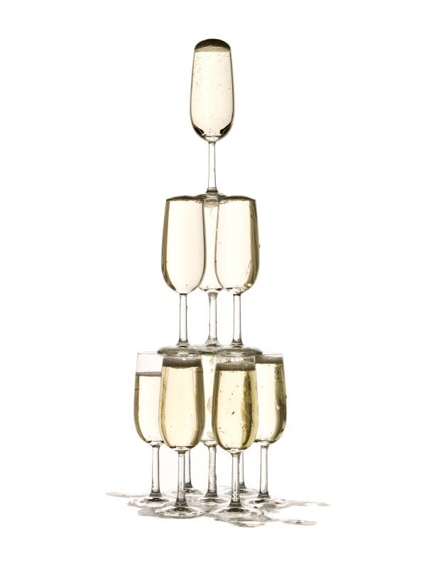 Champagne still-life